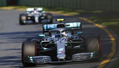 Valtteri Bottas and Lewis Hamilton Mercedes Australian GP F1 2019 helmets race Photo Daimler Edited by MAXF1net