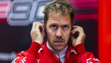 Vettel Ferrari Bahrain GP F1 2019 Friday face zoom Photo Ferrari