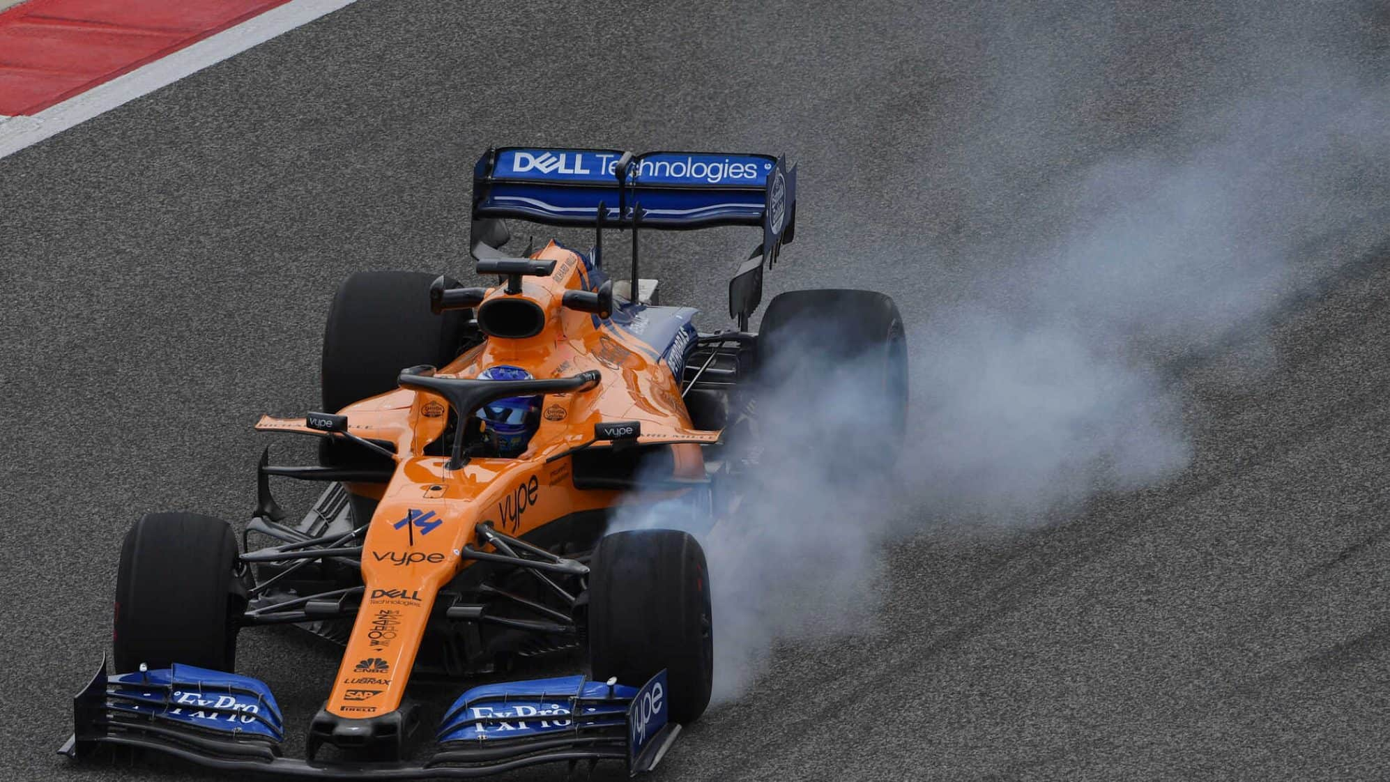 Alonso McLaren MCL34 Bahrain F1 2019 test Photo F1-com