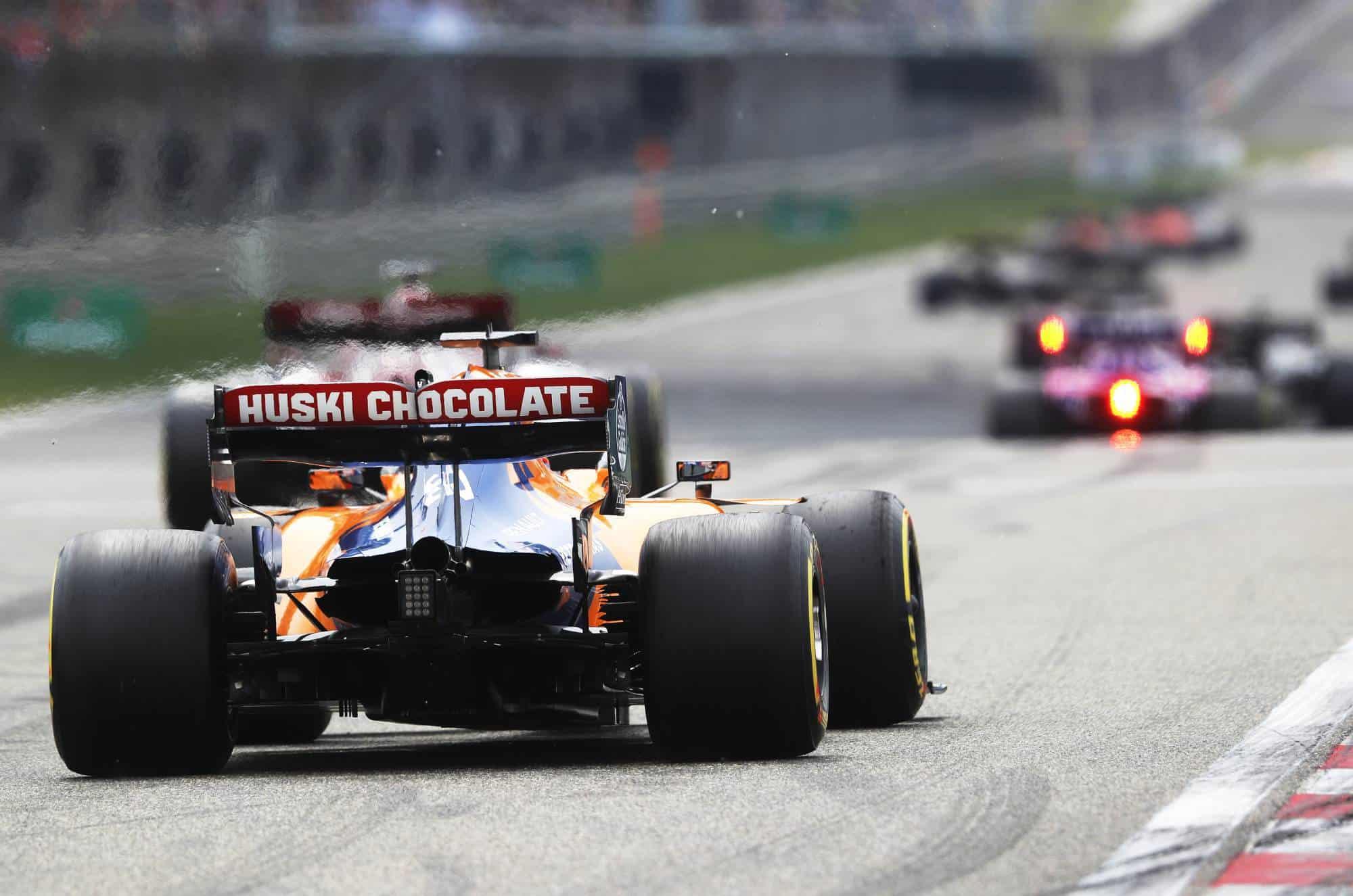 Carlos Sainz McLaren MCL34 Chinese GP F1 2019 race start Photo McLaren