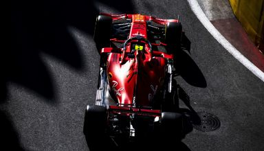 Charles Leclerc Ferrari SF90 Azerbaijan GP F1 2019 dark Photo Ferrari