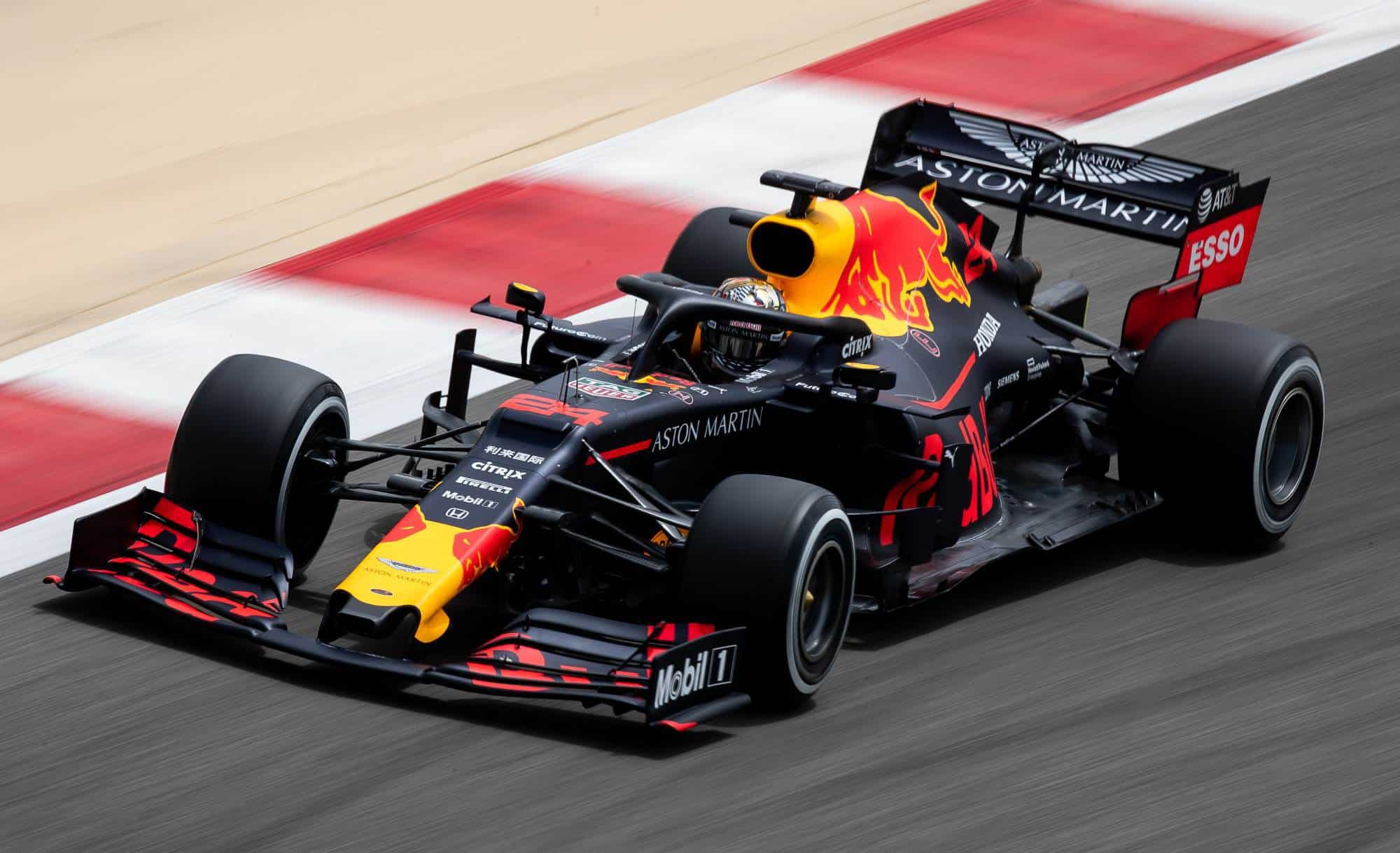 Dan Ticktum Red Bull F1 2019 Bahrain test Day 2 on track Photo Red Bull
