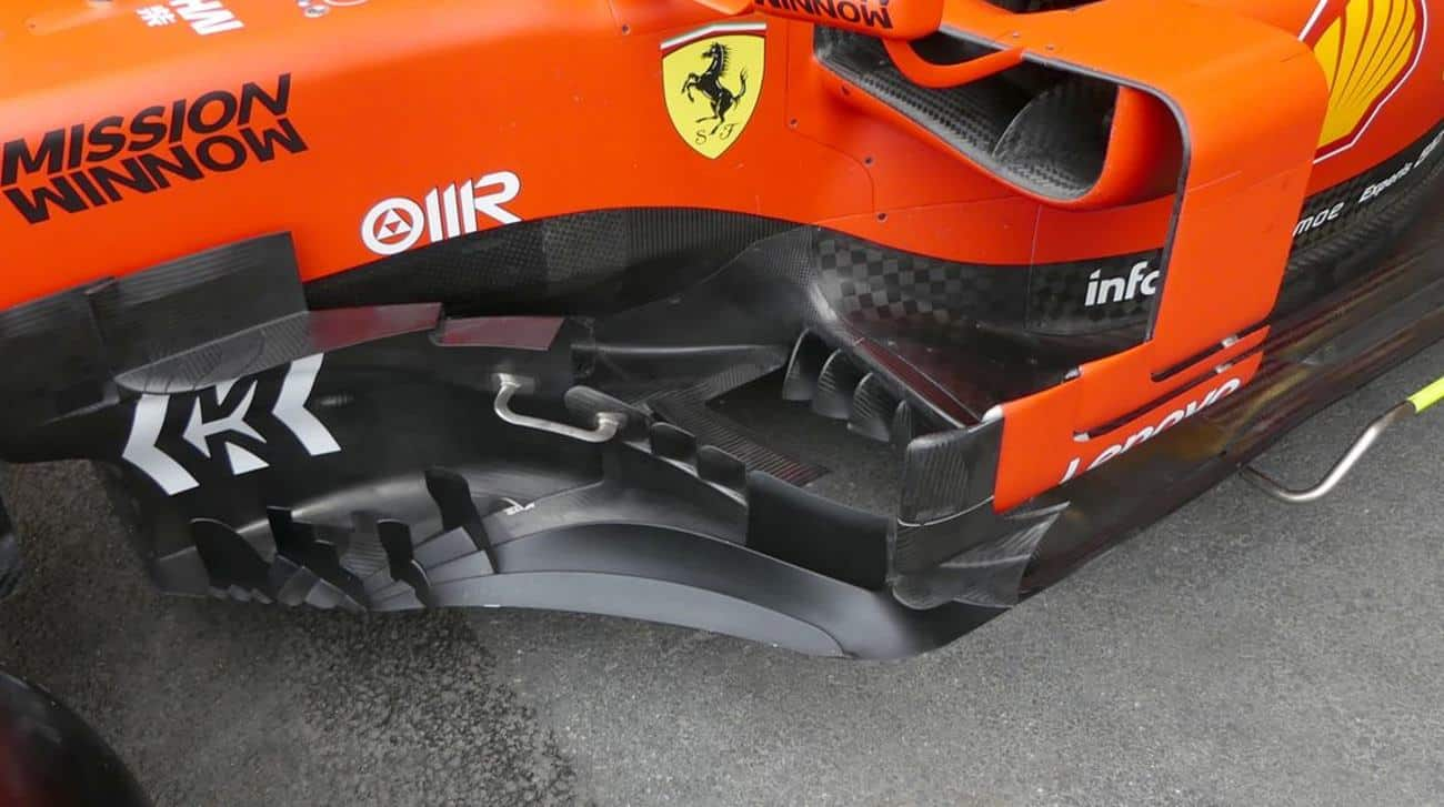 Ferrari SF90 bargeboards Baku F1 2019 thursday Photo AMuS