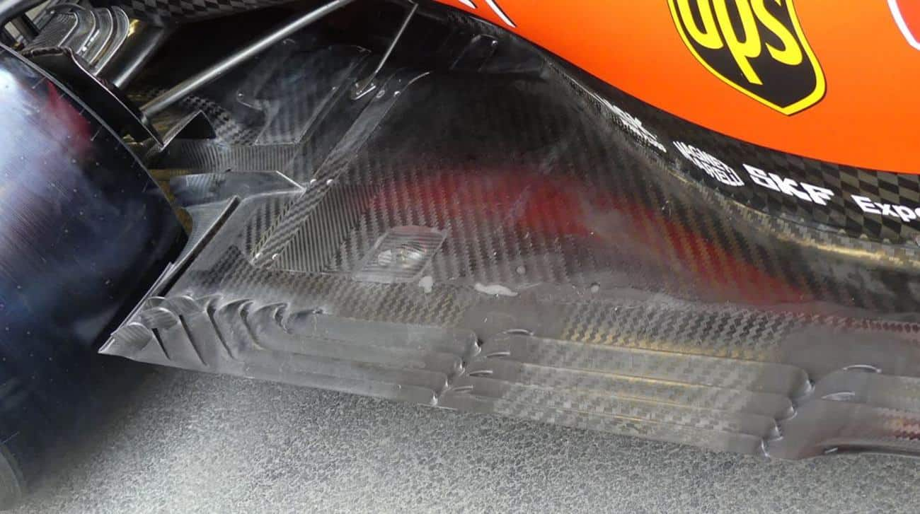 Ferrari SF90 floor diffuser Baku F1 2019 thursday Photo AMuS