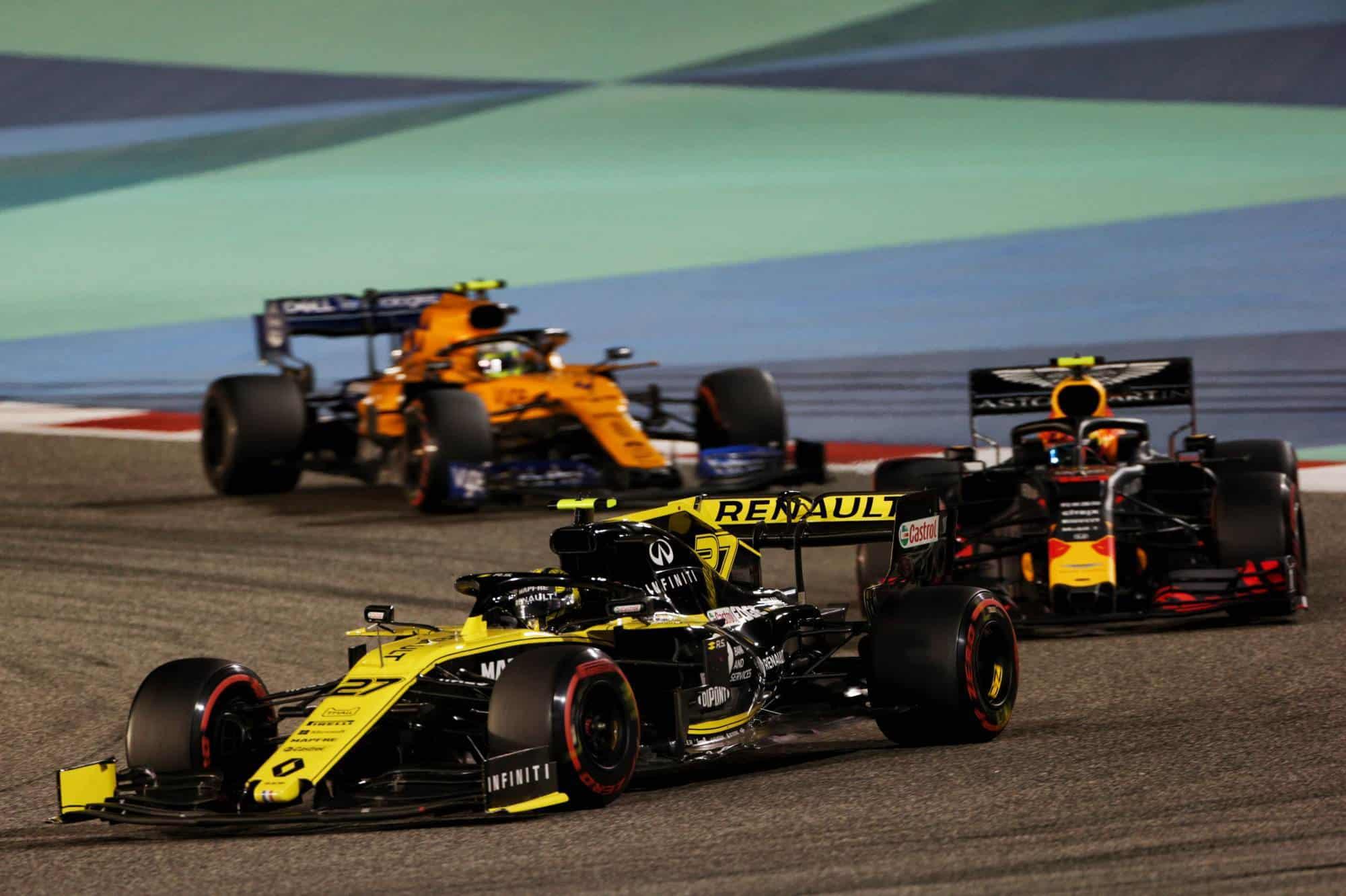 Hulkenberg leads Gasly and Norris Bahrain GP F1 2019 Photo Renault