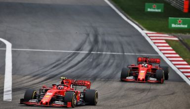 Leclerc leads Vettel Ferrari SF90 F1 1000th race Chinese GP F1 2019 F1 1000th race Photo Ferrari