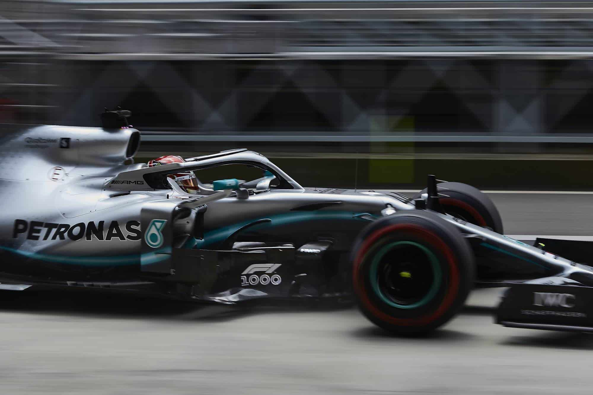 Lewis Hamilton Mercedes F1 W10 1000th F1 race Chinese GP F1 2019 Photo Daimler