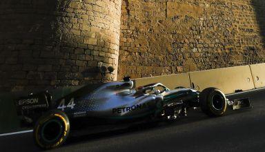 Lewis Hamilton Mercedes F1 W10 Azerbaijan GP F1 2019 Photo Daimler