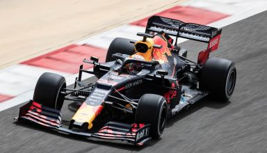 Max Verstappen Red Bull RB15 Bahrain GP F1 2019 test Day 1 Photo Red Bull Edited by MAXF1net