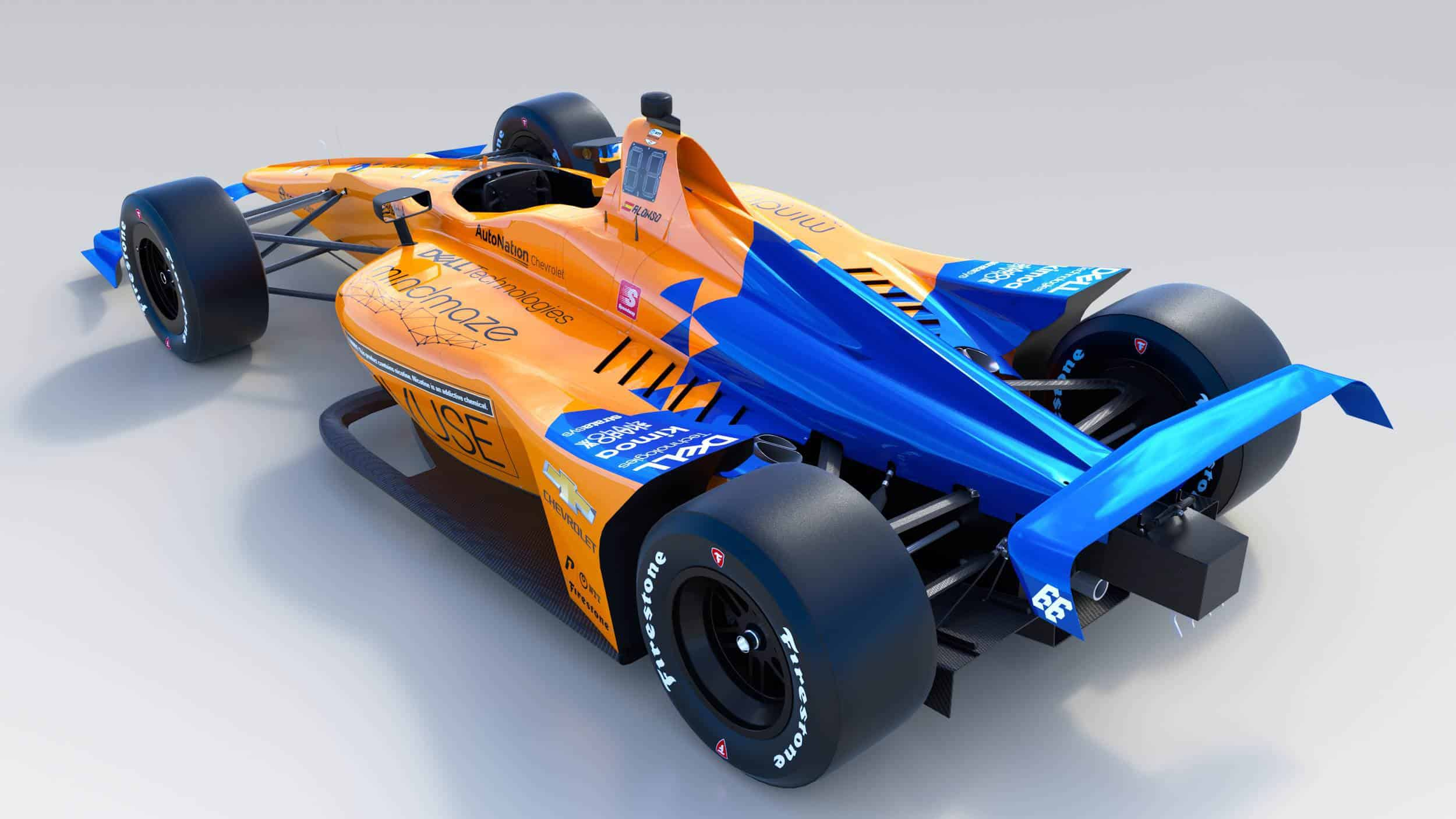 McLaren Alonso 2019 Indy_500_Back
