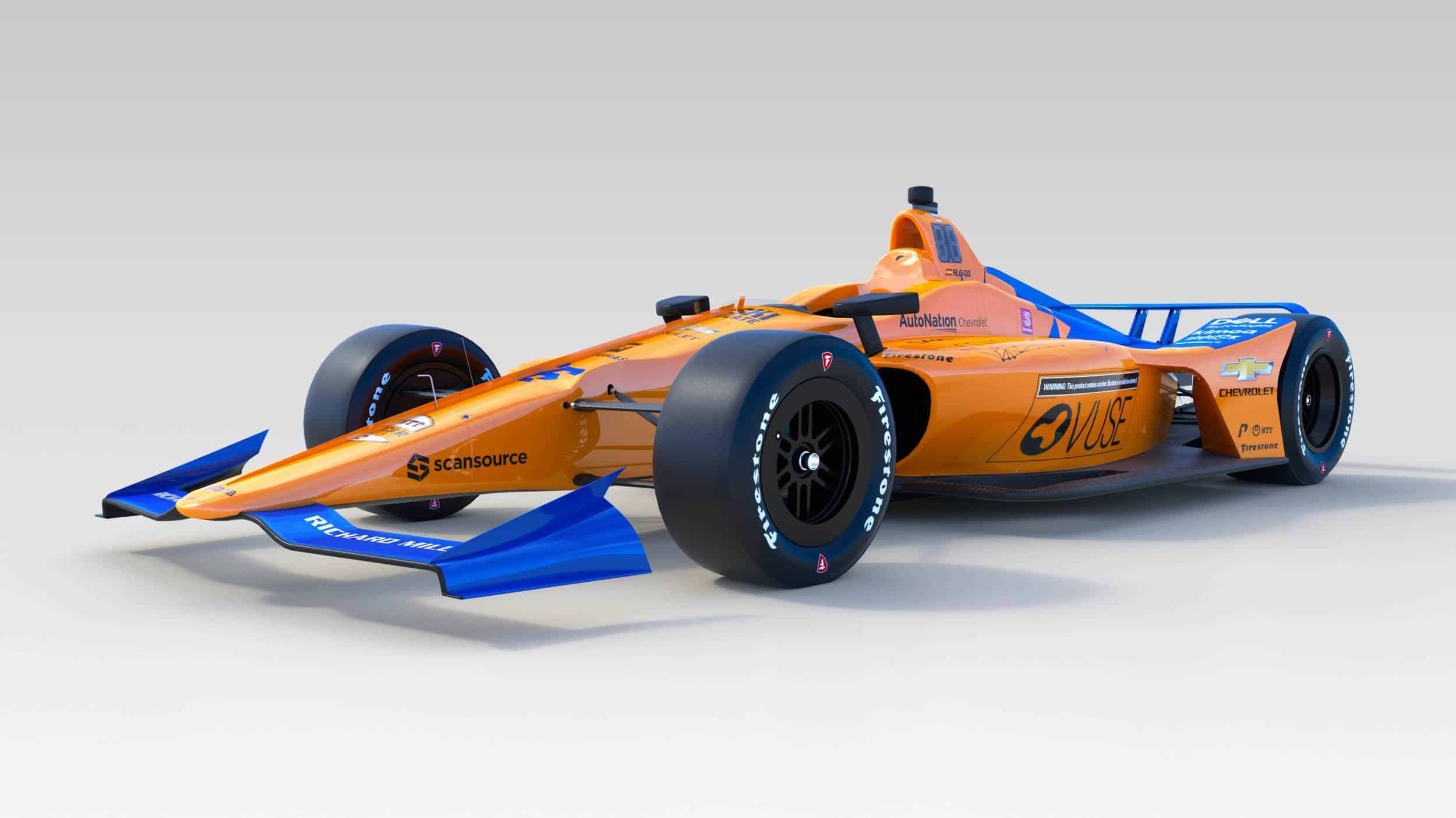 McLaren Alonso 2019 Indy_500_front left angle low