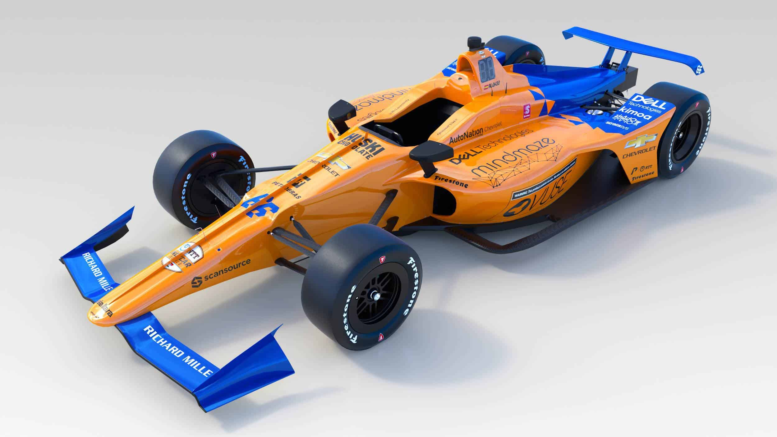 McLaren Alonso 2019 Indy_500_front left angle