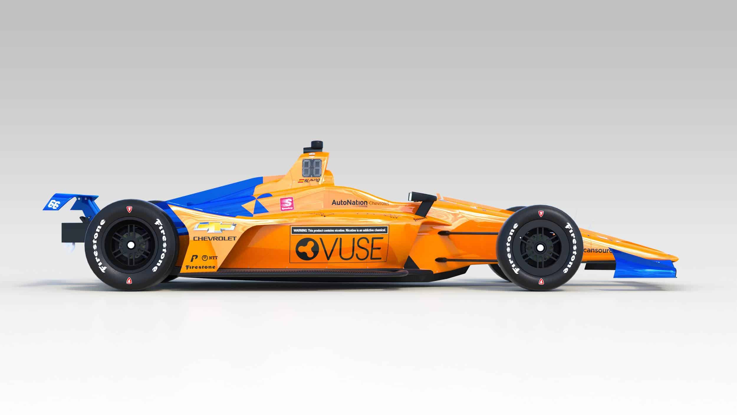McLaren Alonso 2019 Indy_500_side