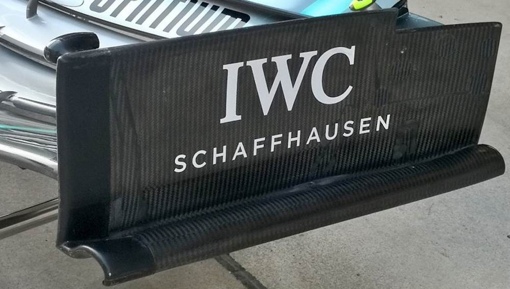 Mercedes F1 W10 new front wing endplate side old Chinese GP F1 2019 Photo Daimler Edited by MAXF1net