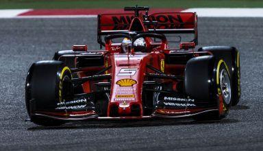 Sebastian Vettel Bahrain GP F1 2019 race medium yellow Pirelli Photo Ferrari