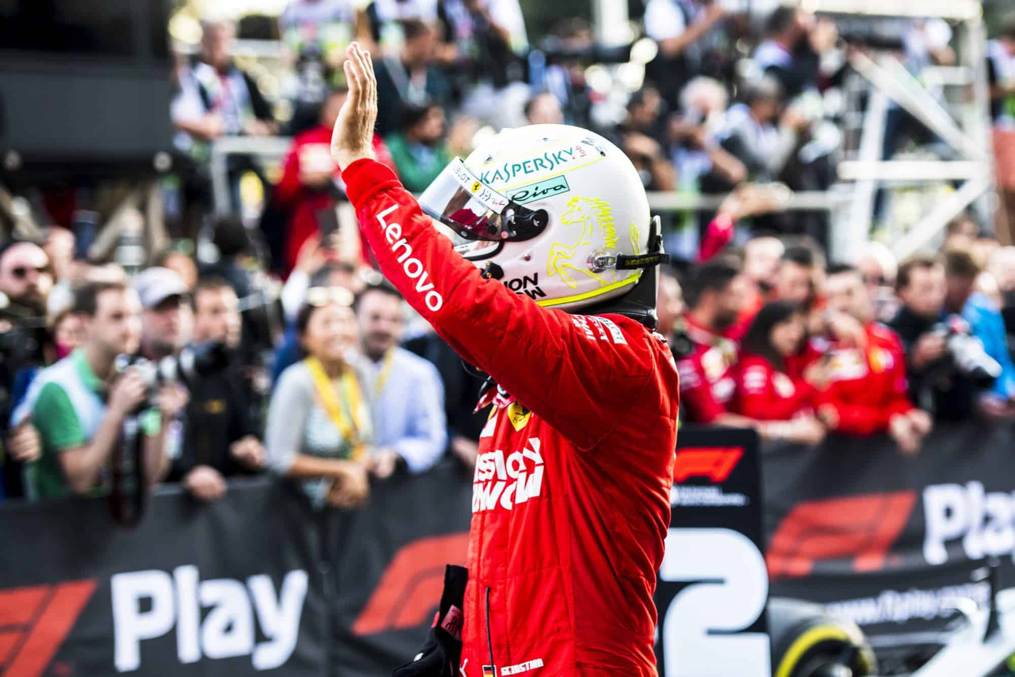 Sebastian Vettel Ferrari Azerbaijan GP F1 2019 post race Photo Ferrari