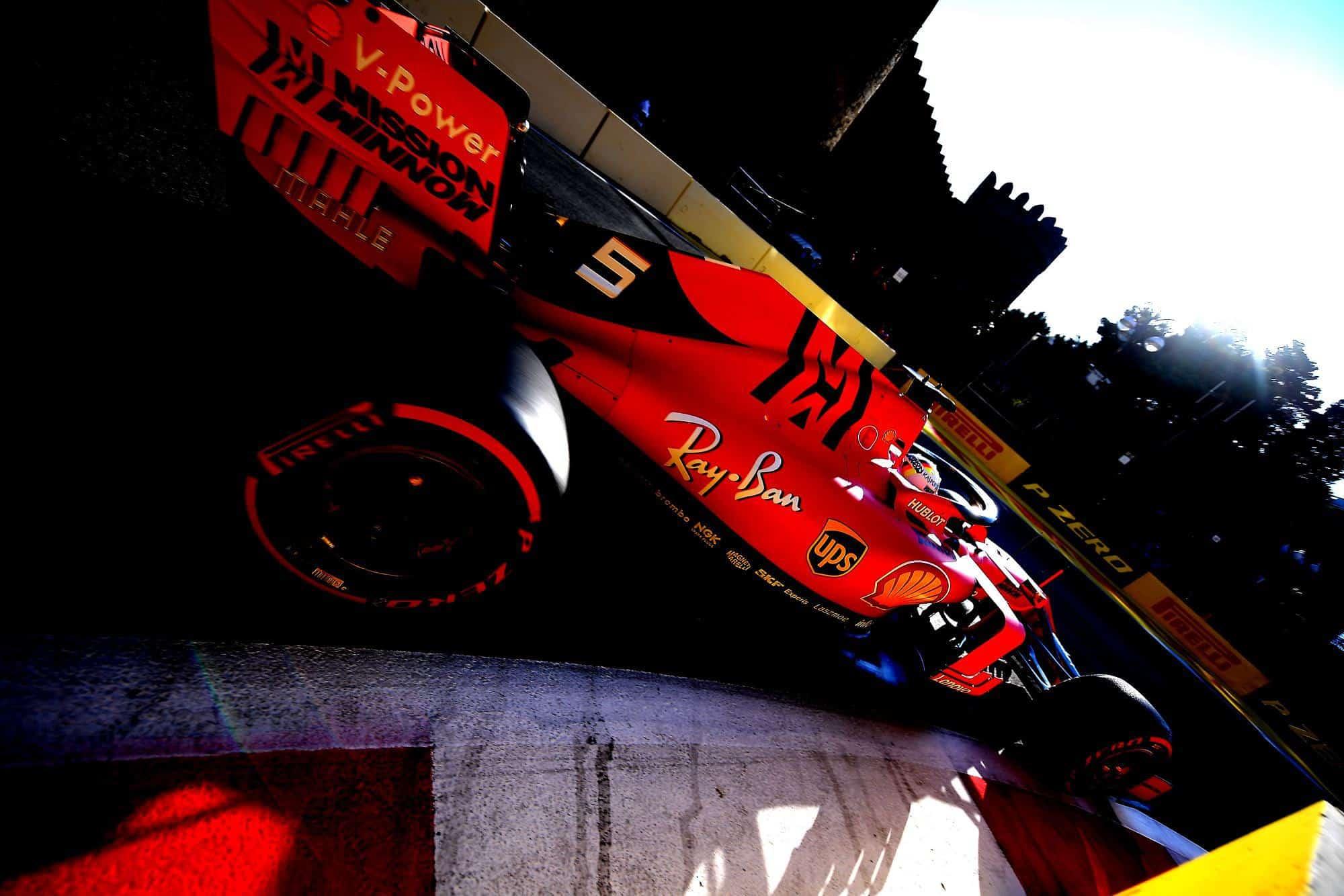 Sebastian Vettel Ferrari SF90 Azerbaijan GP F1 2019 Photo Ferrari