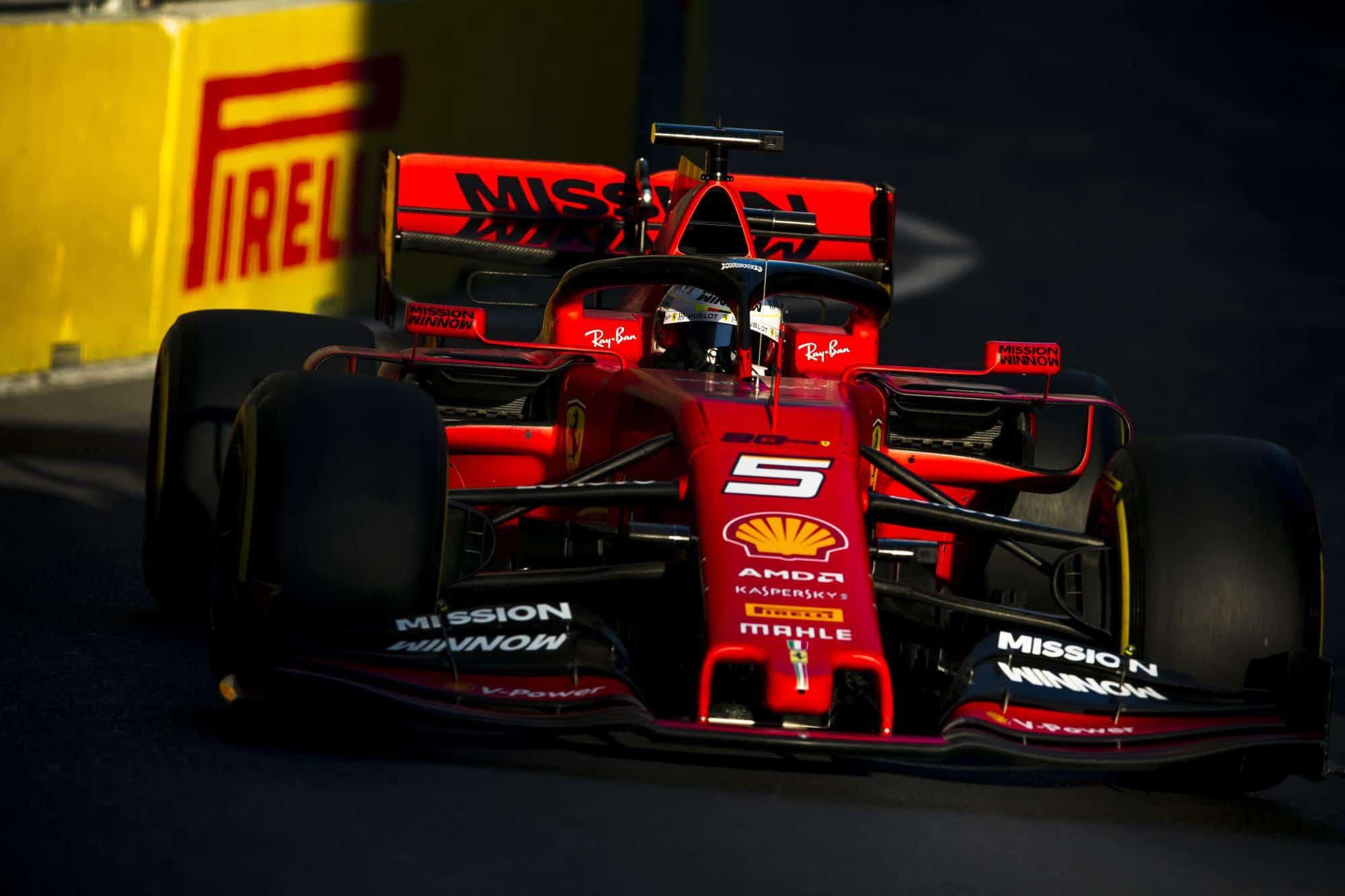 Sebastian Vettel Ferrari SF90 Azerbaijan GP F1 2019 close Photo Ferrari