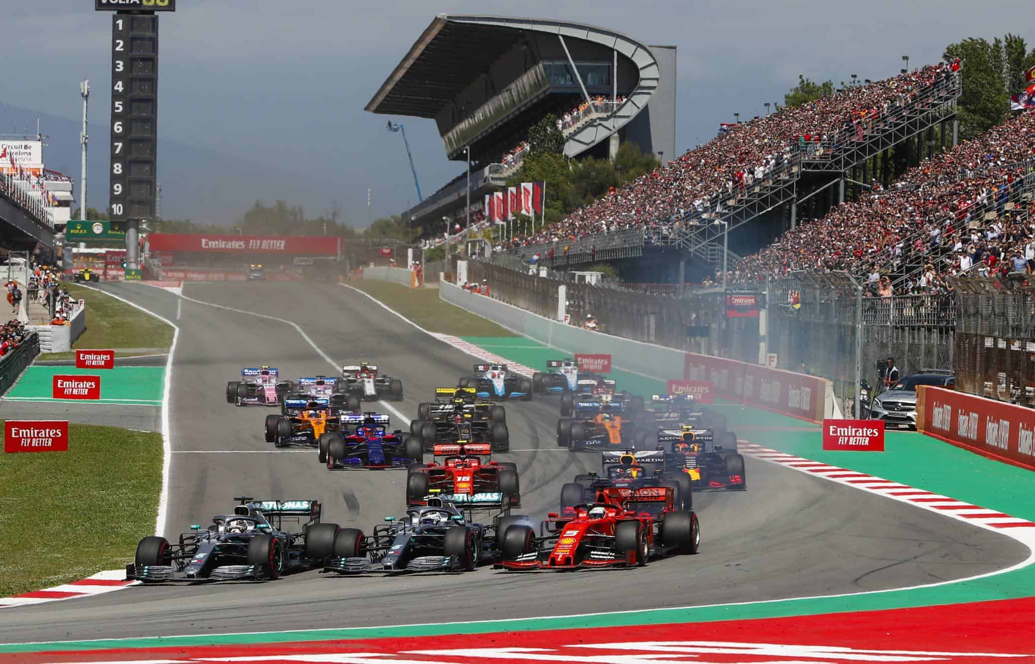 2019 Spanish GP start Photo Daimler