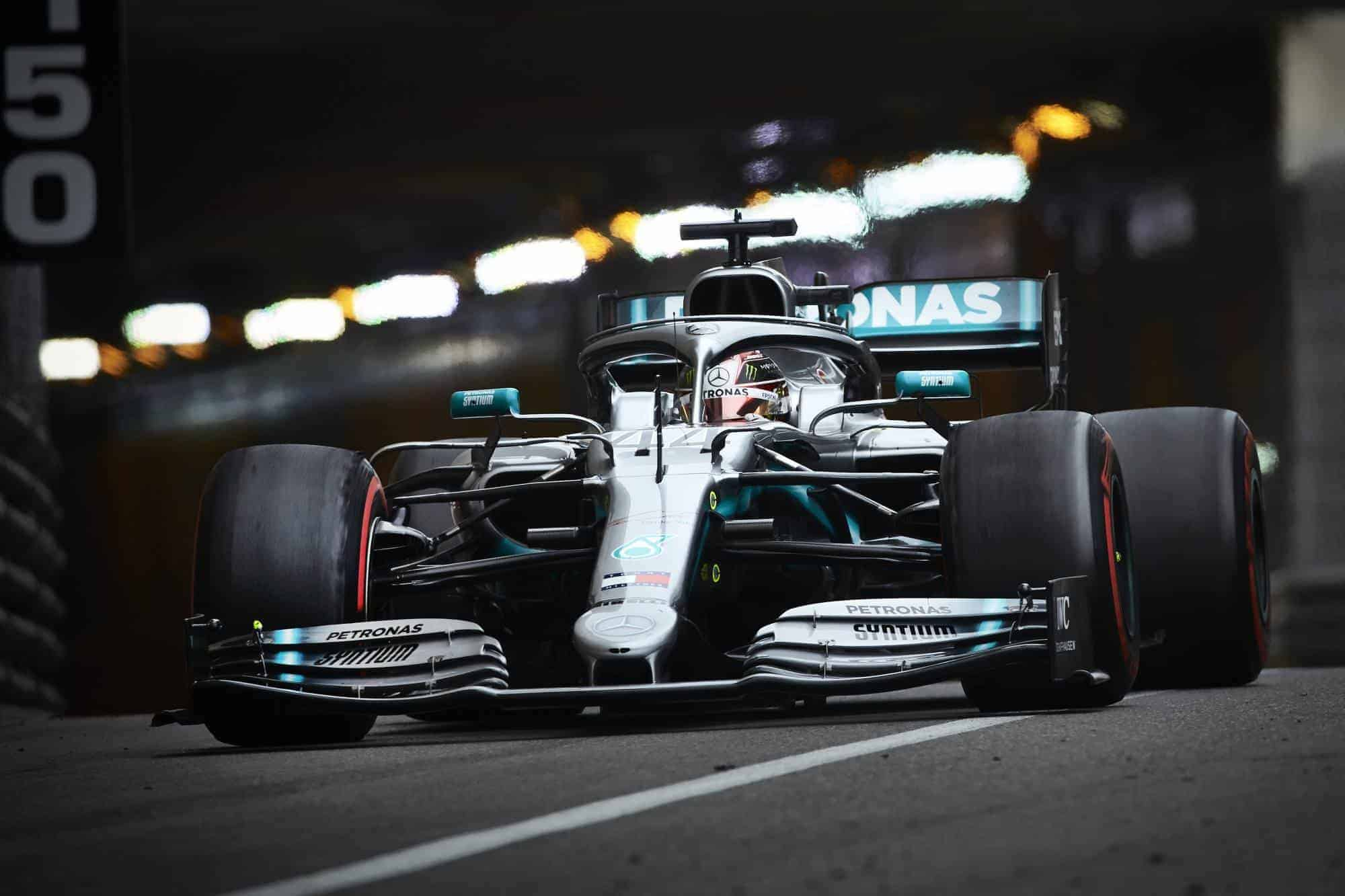 Lewis Hamilton Mercedes F1 W10 Monaco GP F1 2019 tunnel exit Photo Daimler