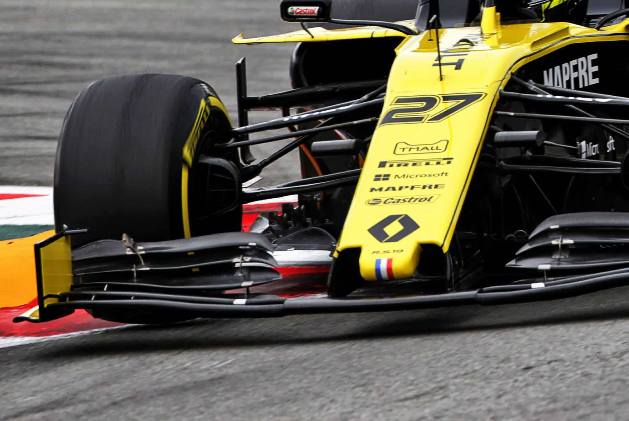 Nico Hulkenberg Renault Spanish GP F1 2019 front wing close Photo Renault