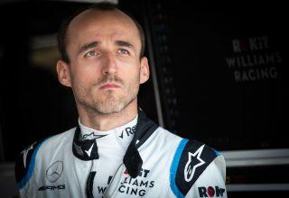 Robert Kubica Williams F1 2019 Azerbaijan GP Baku in garage Photo Williams