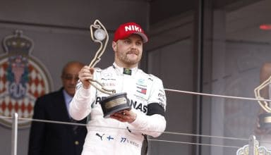 Valtteri Bottas Mercedes F1 W10 Monaco GP podium trophy Photo Daimler