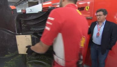 Ferrari SF90 floor in front of TV camera FP1 French GP F1 2019 Screenshot F1