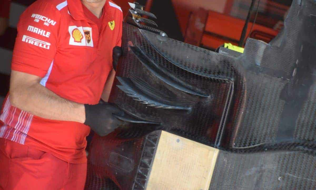 Ferrari SF90 new diffuser French GP F1 2019 Photo AMuS underside Edited by MAXF1net