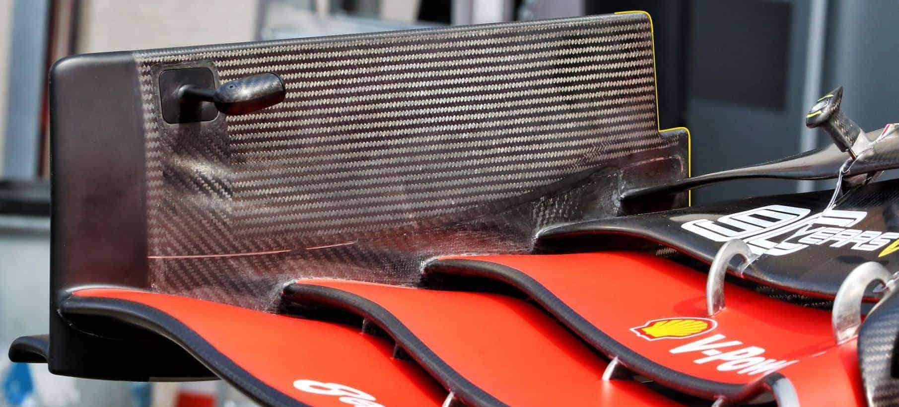 Ferrari SF90 new front wing inside shot French GP F1 2019 Photo AMuS Edited by MAXF1net