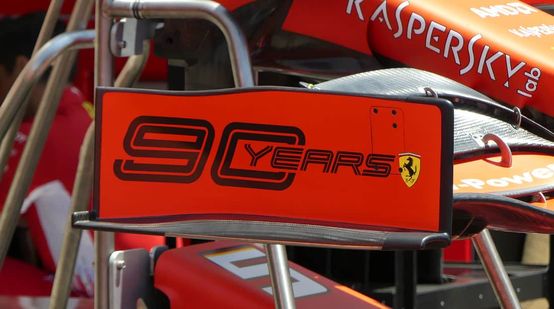 Ferrari SF90 old front wing endplate French GP F1 2019 Photo AMuS Edited by MAXF1net