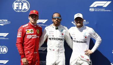 French GP F1 2019 top three Hamilton Bottas Leclerc Photo Daimler