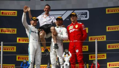 French GP F1 2019 top three race Hamilton Bottas Leclerc Photo Daimler