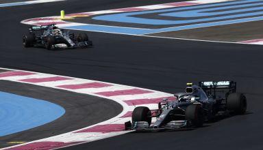 Hamilton and Bottas Mercedes F1 W10 French GP F1 2019 FP2 Photo Daimler