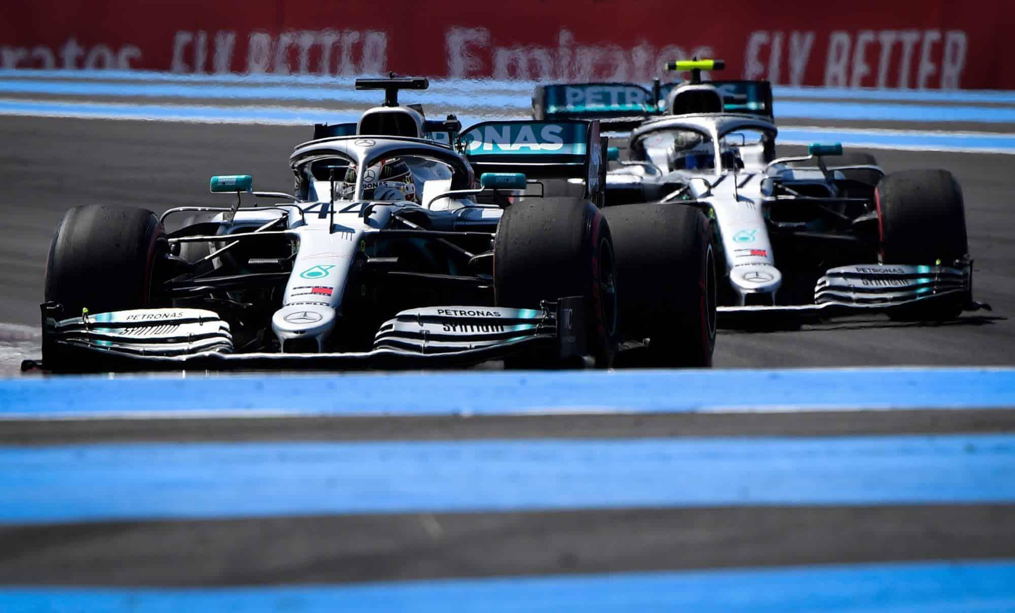 Hamilton and Bottas Mercedes F1 W10 French GP F1 2019 FP2 Photo SkySportsF1