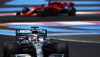Hamilton leads Vettel Mercedes F1 W10 French GP F1 2019 Photo Daimler