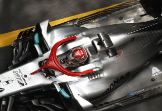 Lewis Hamilton Mercedes F1 W10 Monaco GP F1 2019 top rear end engine cover Photo Daimler Edited by MAXF1net
