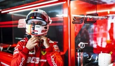 Sebastian Vettel Ferrari Canadian GP F1 2019 helmet on garage Photo Ferrari