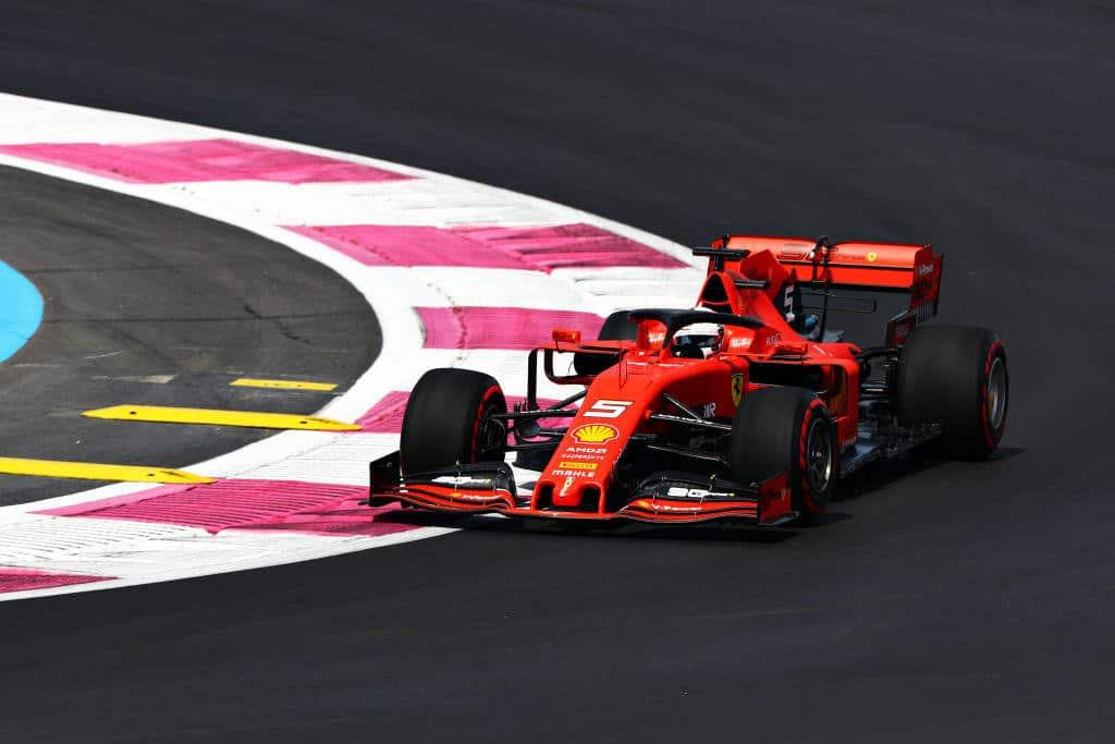 Sebastian-Vettel-French-GP-F1-2019-on-the-track-FP1-Photo-Ferrari