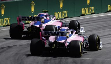 Stroll and Perez Racing Point Canadian GP F1 2019 race Photo Racing Point