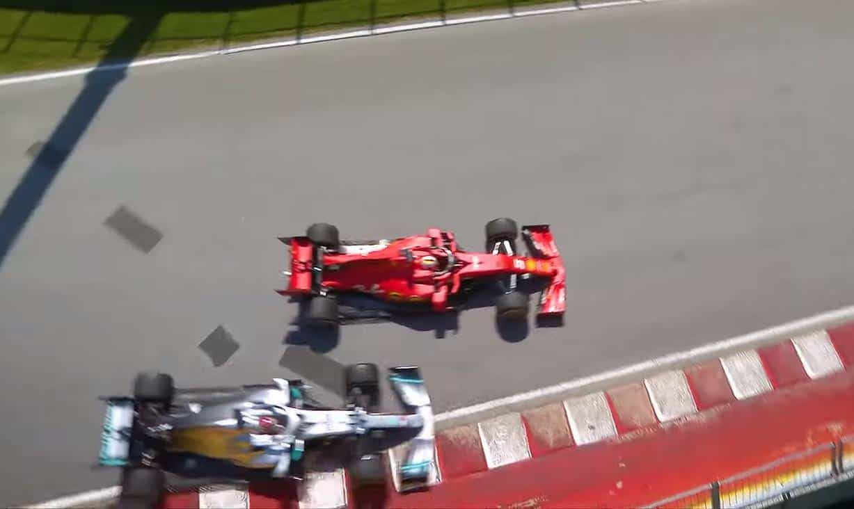 hamilton vettel canadian gp f1 2019 clash Screenshot F1