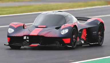 Aston Martin Valkyrie British GP F1 2019 on track Silverstone front left side Photo Red Bull