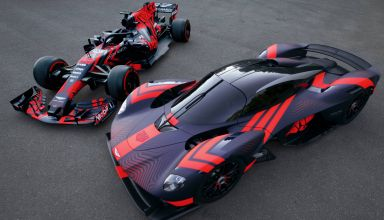 Aston Martin Valkyrie British GP F1 2019 on track Silverstone with Red Bull RB14 Photo Red Bull