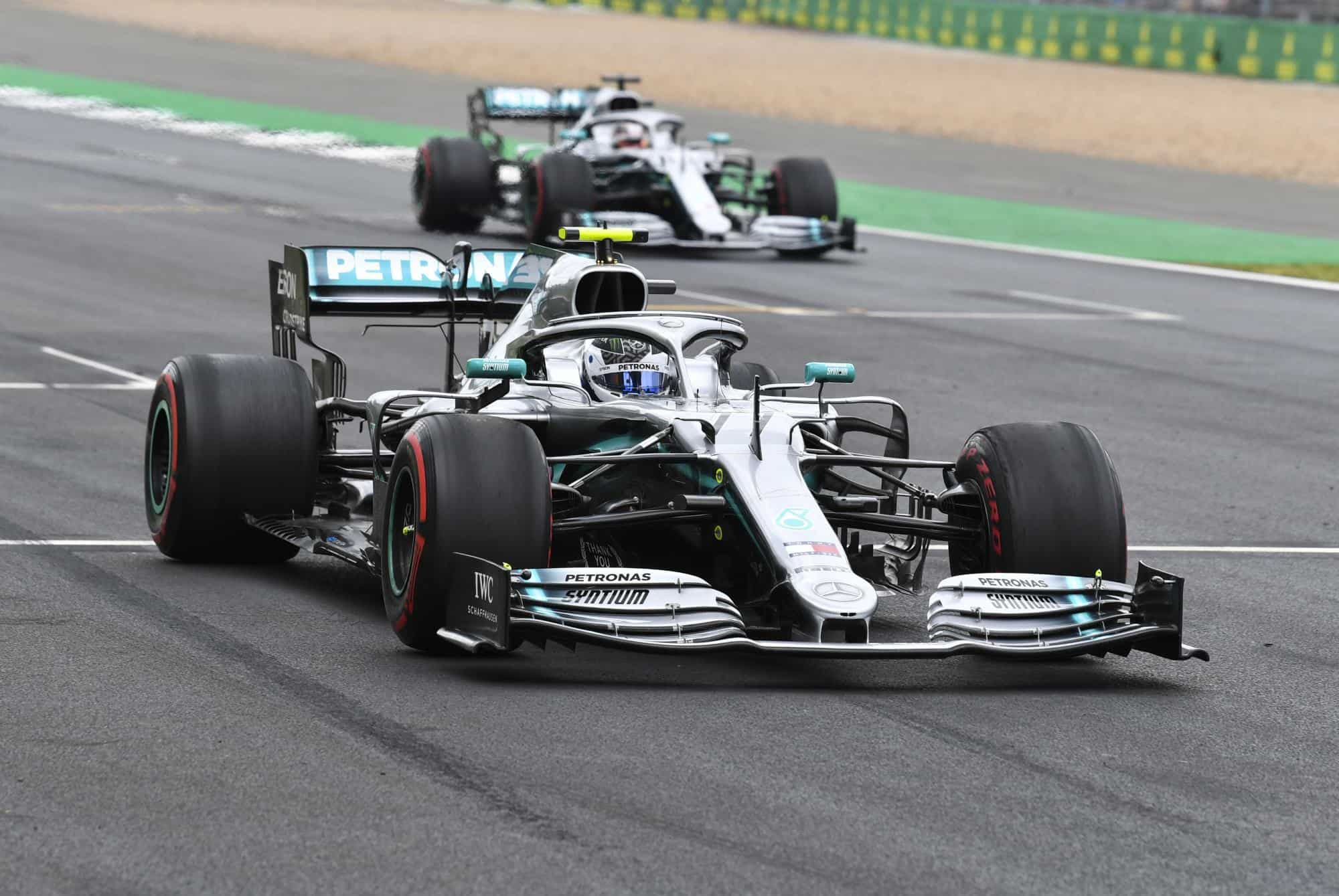 Bottas and Hamilton Mercedes British GP F1 2019 Photo Daimler
