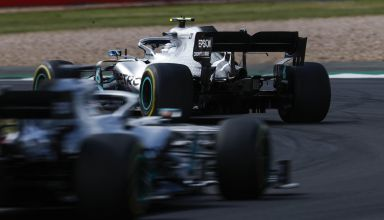 Bottas leads Hamilton British GP F1 2019 Mercedes F1 W10 Photo Daimler