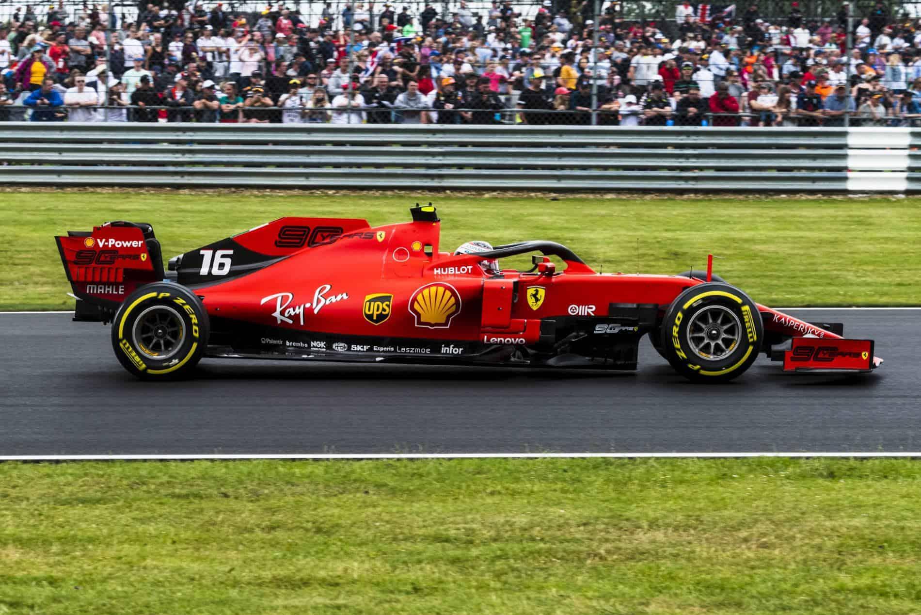 Charles Leclerc Ferrari British GP F1 2019 side Photo Ferrari
