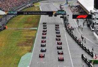 German GP F1 2019 start of the race from behind Photo Red Bull