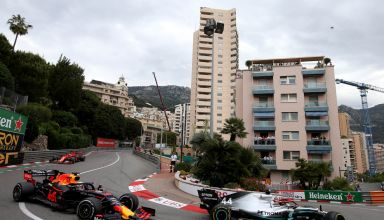 Hamilton leads Verstappen Monaco GP F1 2019 Photo Red Bull
