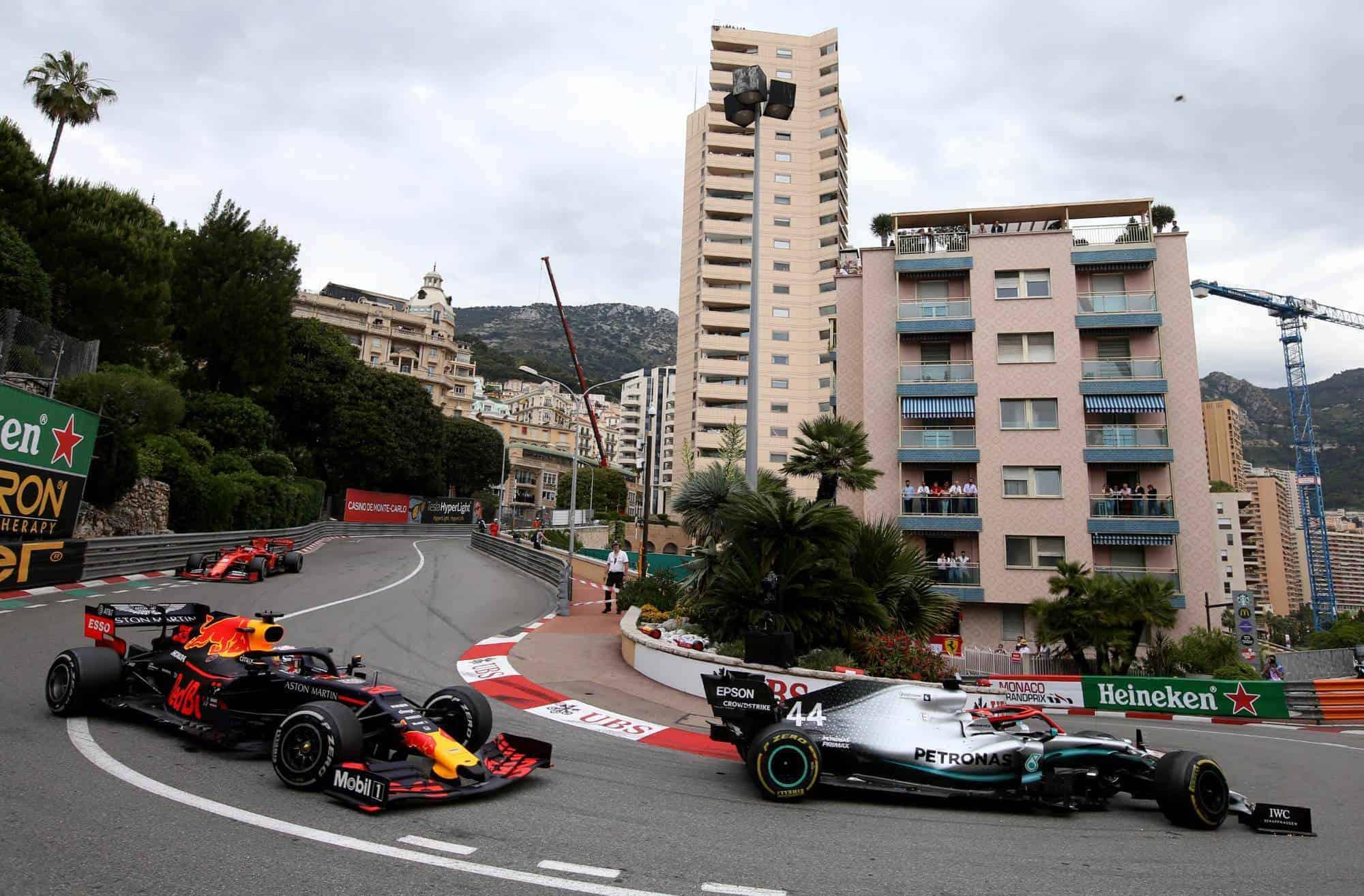 Hamilton leads Verstappen Monaco GP F1 2019 Photo Red Bull