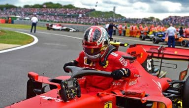 Leclerc Ferrari British GP F1 2019 after the race Photo Ferrari